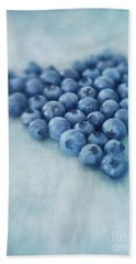 I Love Blueberries Beach Towel by Priska Wettstein