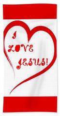 I Love Jesus Beach Towel