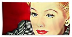 I Love Lucy Beach Towel by Wbk