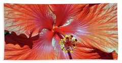I Love Orange Flowers 2 Beach Towel by Lydia Holly