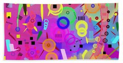 Beach Towel featuring the digital art I Once Was Happy by Silvia Ganora