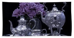 I Polished My Silver For You Beach Sheet by Sandra Foster