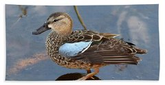 I Really Am A Green Winged Teal Beach Towel