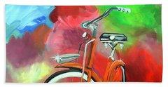 I Ride My Bike Beach Towel by Tom Riggs