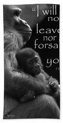 I Will Not Leave Nor Forsake You Beach Towel