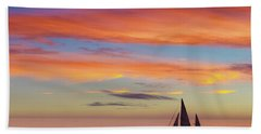 I Will Sail Away, And Take Your Heart With Me Beach Towel