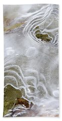 Beach Towel featuring the photograph Ice Abstract by Christina Rollo
