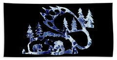 Ice Bears 1 Beach Towel by Larry Campbell