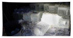 Ice Blocks In House Beach Towel