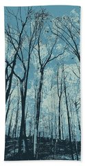 Ice Blue Beach Towel