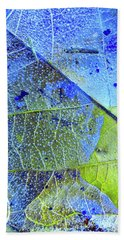 Ice Bubbles And Leaf Lines Beach Towel by Todd Breitling