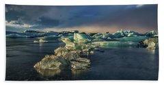 Ice Chunks Beach Sheet by Allen Biedrzycki