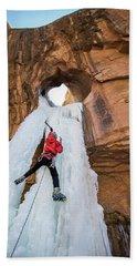 Ice Climber Beach Towel