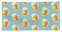 Ice Cold Beer Pattern Beach Towel