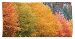 October Trees Beach Towel