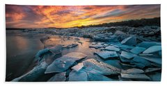 Ice Floe Beach Towel
