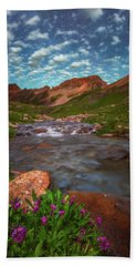 Beach Towel featuring the photograph Ice Lake Nights by Darren White