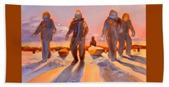 Ice Men Come Home Beach Towel by Kathy Braud