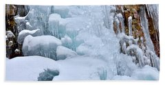 Ice Mosaic Beach Towel