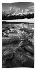 Beach Towel featuring the photograph Ice On The Athabasca by Dan Jurak