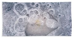 Beach Towel featuring the photograph Ice Pattern Two by Davorin Mance