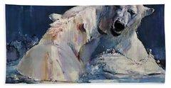 Ice Play Beach Towel by Mark Adlington