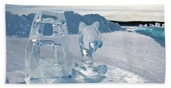 Ice Sculpture Beach Towel