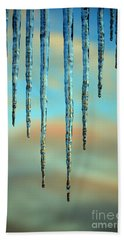 Beach Sheet featuring the photograph Ice Sickles - Winter In Switzerland  by Susanne Van Hulst