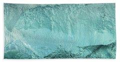 Ice Texture Panorama Beach Towel