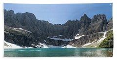 Iceberg Lake Panoramic - Glacier National Park Beach Sheet