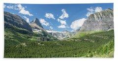 Iceberg Lake Trail Mountain Valley - Glacier National Park Beach Towel