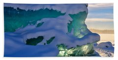 Iceberg's Glow - Mendenhall Glacier Beach Towel by Cathy Mahnke