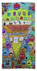 Icecream Parlor Beach Sheet