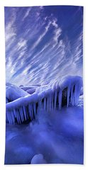 Beach Towel featuring the photograph Iced Blue by Phil Koch