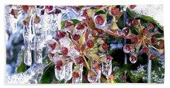 Iced Ivy Beach Towel