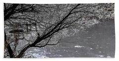 Iced Tree Beach Towel