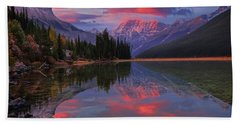 Icefields Parkway Autumn Morning Beach Towel