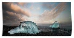 Iceland Glacial Ice Beach Towel