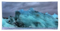 Iceland Ocean Blue Ice Glaciers Beach Towel