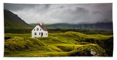 Iceland Scene Beach Sheet
