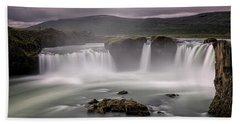 Iceland Waterfall Beach Sheet
