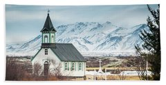Icelandic Church, Thingvellir Beach Towel