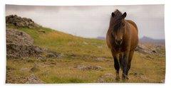 Icelandic Horse Beach Towel