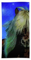 Beach Towel featuring the digital art Icelandic Horse by Mimulux patricia No