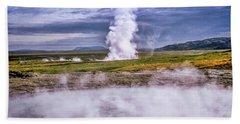 Icelandic Hydrothermal Activity Beach Towel