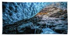 Icelandic Ice Cave Beach Towel