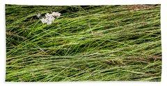 Beach Towel featuring the photograph Icelandic Summer Flowers by KG Thienemann