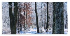 Icey Forest 1 Beach Towel