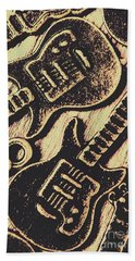 Icons Of Vintage Music Beach Towel