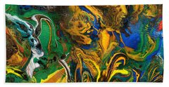 Icy Abstract 9 Beach Towel